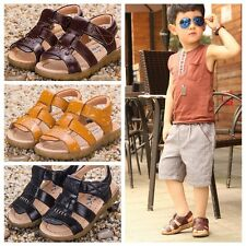 Hot Fashion Kid Baby Boy Girl Soft Leather Sandals Prewalker Casual Beach Shoes
