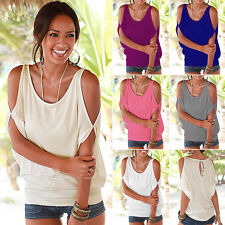 Sexy Women Short Sleeve Off The Shoulder Casual Loose T-Shirt Tops Ladies Blouse
