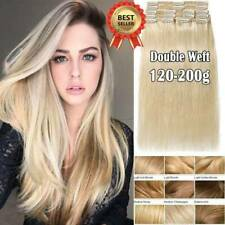 100% Real Human Hair Full Head Clip in Remy Hair Extensions 80-160G AU Delivery