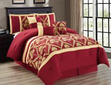 11-Piece Perris Burgundy/Gold Bed in a Bag Set