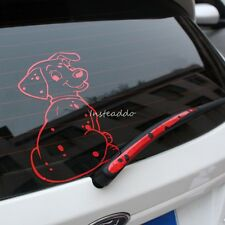 Funny Spotted Dog Moving Tail Stickers Reflective Car Rear Window Wiper Decals