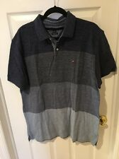 TOMMY HILFIGER BLUE POLO SHIRT SIZE EXTRA LARGE XL SHORT SLEEVES MENS CUSTOM FIT