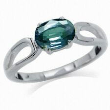 Color Change Alexandrite Doublet 925 Sterling Silver Solitaire Ring SZ 10