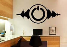 Dance Wall Stickers Power Music Vinyl Decal 15 Colours 01955