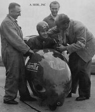 Lambretta world speed record scooter 1951 & Ferri racing motorcycle photo sports