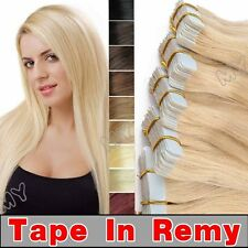 40pcs 100g AAAAA THICK 100% REMY Tape In Straight  Human Hair Extensions  BS098