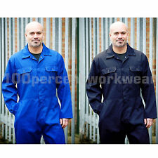 Warrior Polycotton Stud Front Fastening Mens Boilersuit Overalls Coveralls S-3XL