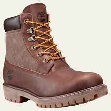 Timberland Mens 6 Inch Panel Boots Premium Brown Leather A15A2