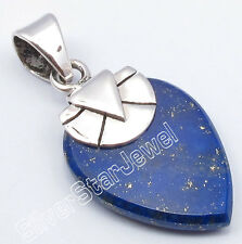 .925 Silver LAPIS LAZULI Pendant 3.1 CM INDIAN JEWELLERS FREE SHIPPING