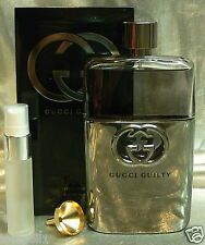TRAVEL SIZE GUCCI GUILTY POUR HOMME EAU DE TOILETTE  0.33 FL. OZ. 10 ML
