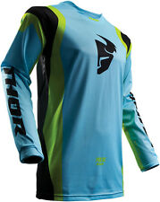 2017 THOR MX PULSE AIR PROFILE JERSEY POWDER BLUE LIME MX MOTOCROSS MENS ADULT