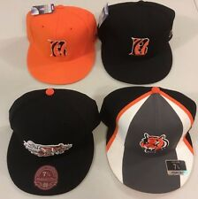 CINCINNATI BENGALS SELECT 1 FLAT BRIM FITTED NFL CAP REEBOK OR MITCHELL & NESS