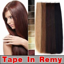 "DOUBLE DRAWN Tape In 16"" 18"" 20"" 22"" skin glue100% Human Hair Extensions BS180"