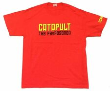 Crosby Stills Nash & Young Catapult The Propaganda Red T Shirt New Official CSNY