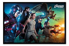 Legends Of Tomorrow Team Poster Framed Cork Pin Notice Board With Pins