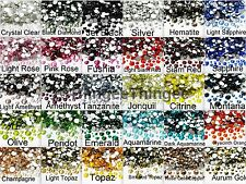 1000 MIXED SIZES GLASS FLATBACK RHINESTONES SS4/6/8/10/12/16/20/30 2/3/4/5/6mm