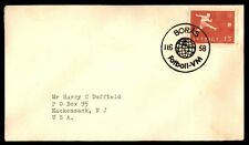 Sweden 1958 Soccer Football Pictorial Cancels on cover