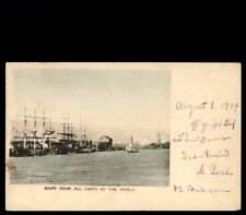 Great Ships From All Over The World 1904 Seattle Washington Postcard