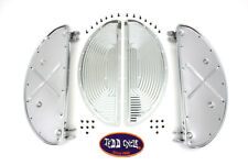 Chrome Driver Half Moon Footboard Set with Ribbed Insert,for Harley Davidson ...