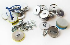 """1-1/4 Inch 1.25"""" SHOELACE FLAT BACK Button Parts for Button Maker Machines"""