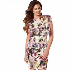 Jessica Wright Pink Purple Rose Floral Evening Party DRESS UK 10 BNWT