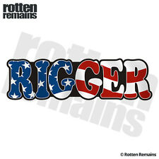 Rigger Decal American Flag USA United States Oil Rig Vinyl Hard Hat Sticker C7X