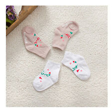 3 Pairs/lot Baby Cute Cotton Socks Kid's LetterPrinted Ankle Socks Pink 0-4yrs g