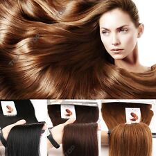 US SALE Real Remy Clip in Double Wefted HUMAN Hair Extensions Brown Blonde HQ355
