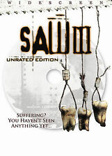 Saw III (DVD, 2007, Unrated Widescreen) Tobin Bell  Include Film Cell Nice!