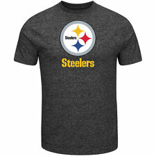 Pittsburgh Steelers Majestic End Zone Marled T-Shirt - Charcoal - NFL