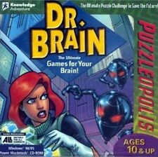 Dr. Brain PuzzleOpolis brain-teasing puzzles thinking strategy game PC CD
