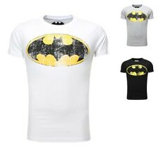 Sublevel Men T-Shirt Vintage Look Men's T-shirt Batman Logo washed
