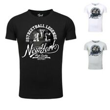 Men's Basketball T-Shirt Goodflow Muscle Fit short sleeved crew neck NYC