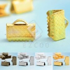 Ribbon Crimp Ends Connectors Cord Tips Clamps DIY Jewelry Crafts Findings YB