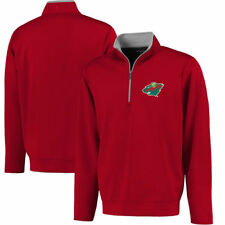 Minnesota Wild Antigua Leader 1/4 Zip Pullover - Red - NHL