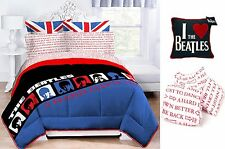 THE BEATLES 8pc QUEEN Size Bed Set ~ Comforter+Shams+Sheets+Decorative Pillow