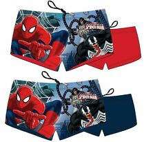 BOYS KIDS CHILDS OFFICIAL SPIDERMAN SWIMMING TRUNKS SHORTS HOLIDAY