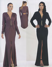 Stretchy Chiffon Mother Of Bride/Groom Gown Formal Dress Party Evening 4~16 New