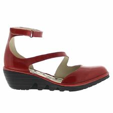 Fly London PLAN717FLY Wedge Red Womens Sandals