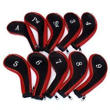 10 pcs/set Golf Club Iron Putter Head Cover Protect Set Neoprene HeadCovers