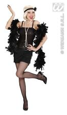 Ladies Womens Black Flapper Costume Outfit for 20s Moll Gangster Fancy Dress