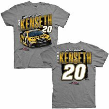 2017 MATT KENSETH #20 DEWALT TOOLS CHASSIS CAR MEN'S NASCAR GREY TEE SHIRT