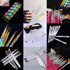5/6/8/15/20 x Nail Art Design Set Dotting Painting Drawing Polish Brush Pen Tool