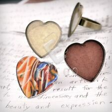 Ring Mountings Engagement Settings Heart/Round/Oval Antique Copper/Brass/Silver