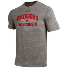 Wisconsin Badgers Under Armour 2016 On-Field Tri-Blend  T-Shirt - Gray
