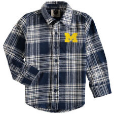 Michigan Wolverines Wes & Willy Toddler Flannel Long Sleeve Shirt T-Shirt