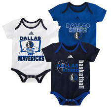 Dallas Mavericks adidas Newborn & Infant 3-Point Bodysuit Set - NBA