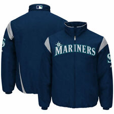 Seattle Mariners Majestic On-Field Therma Base Thermal Full-Zip Jacket - MLB