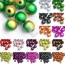 10/20/40/80/120pcs Acrylic Miracle Spacer Beads Round 4/6/8/10/12mm 18 Colors
