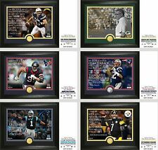 "Choose Your NFL Team Player ""Quote"" Silver or Bronze Medallion Coin Photo Mint"